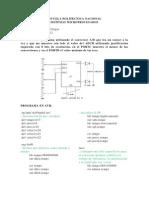 ejercicos en atmega 164p uso de conversor A/D y comunicacion serial