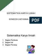 SISTEMATIKA KARYA ILMIAH