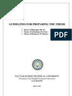 GBTU PhD Thesis Preparation Manual 09072011