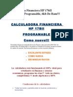 Calculadora Financier A HP 17bII Original