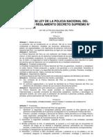 LEY Nº 27238 LEY DE LA POLICIA NACIONAL DEL PERU Y SU REGLAMENTO DECRETO SUPREMO N