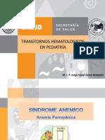 Transtornos hematologicos en pediatría