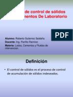 Control de Solidos e Intrumentos de Lab. Roberto Gutierrez