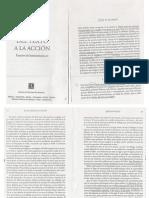 Paul Ricceur. (2001) Del texto  a la Acción, Buenos Aires, FCE, p. 127-147.