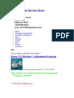 Epson Online Service Reset