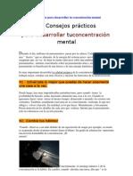 10 Consejos prácticos para desarrollar tu concentración mental