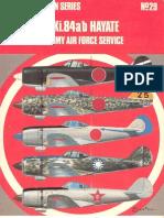 58307894 Osprey Aircam Aviation 29 Nakajima Ki 84 a B Hayate in Japanese Army Air Force Service