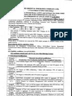 Recruitment OICL AO 2012 Advertisement