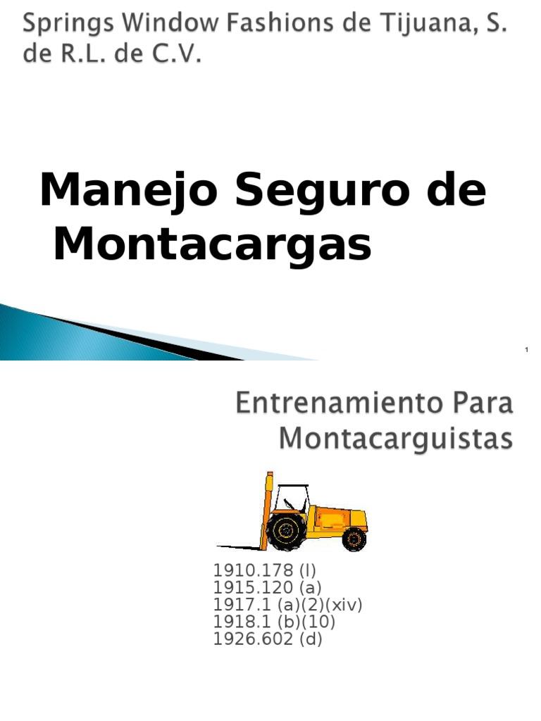 Manual de Montacargas