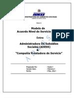 Modelo de Acuerdo de Nivel de Servicios _sla