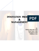 Innovation Process & Management by Shitish Nisha Kiran & Mithilesh