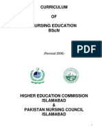 BScN Four Year HEC PNC Curriculum