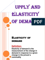 Supply and Elasticity of Demand