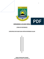 Kerangka Acuan Kerja Sistem Informasi Jalan dan Update Jalan