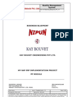Sample Sap Pp Business Blueprint