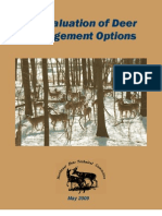 An Evaluation of Deer Management Options