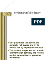 Modern Port Folio Theory