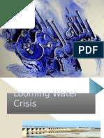 Looming Water Crisis of Pakistan