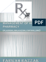 MANAGEMENT OF HOSPITAL PHARMACY