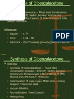 why is dibenzalacetone yellow