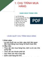 CHU TRÌNH MUA HÀNG