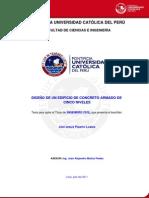 Pizarro Loaiza Joel Edificio Concreto Armado Cinco Niveles