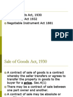 Sale of Goods, Patnership