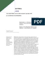 Travassos_Equidade e o Sistema Unico de Saude_1997