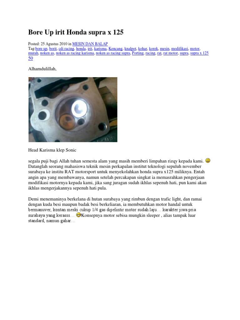 Bore Up Irit Honda Supra
