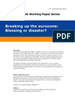 Breaking Up the Eurozone
