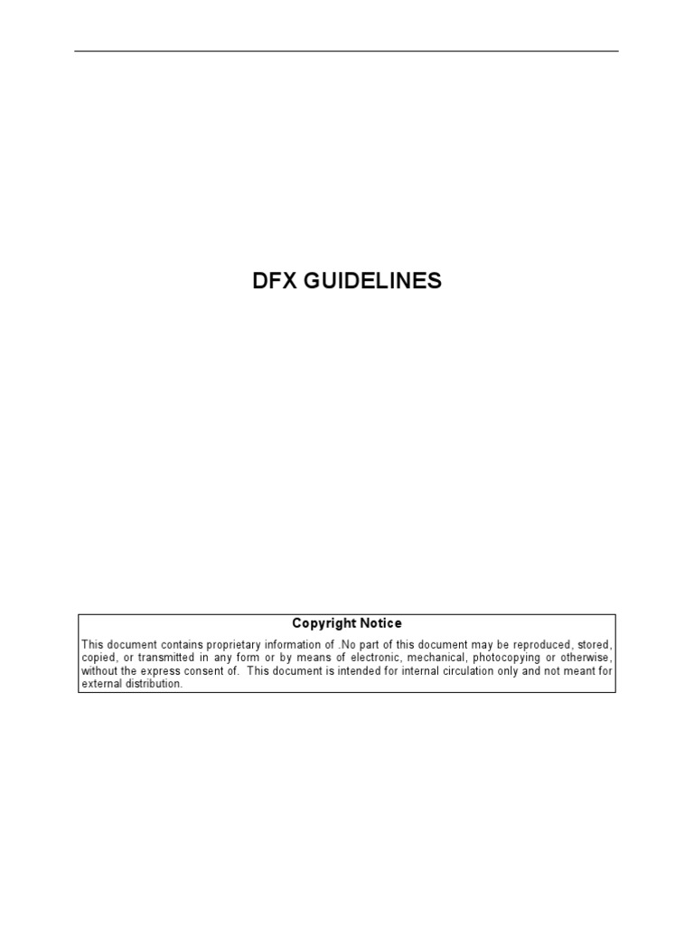 DFX Guidelines | Printed Circuit Board | Electrical Engineering