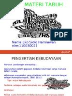 Materi Tabuh Eko Sidiq Harmawan Nim 110030027