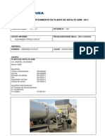 Informe de Mantenimiento Planta de Asfalto Adm-2011