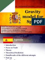 Gravity Model for Spain