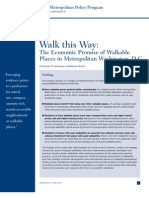25 Walkable Places Brookings Study