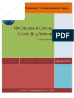 MyCourses a UML Docoment With Usecase and Class Diagrams