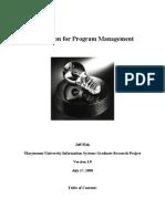 Innovation for Program Management