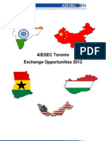 AIESEC Toronto Exchange Programmes 2012 - Information Booklet