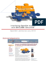 OpenSim Matlab July2010 PDF
