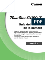 PowerShot SX150 is Camera User Guide ES v1.0