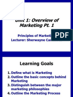 Unit 1- Principles of Marketing