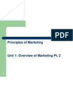 Unit 1(Pt.2)- Principles of Marketing