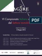 AGIRE - ANTOITALIA Sixth Italian Real Estate Golf Championship 2012_ 4 June