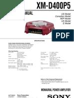 Sony XM-D400P5 Car Power Amplifier Sm