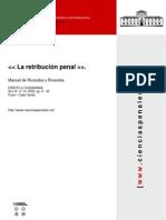 La Retribución Penal, Manuel de Rivacoba y Rvacoba
