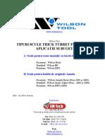 Wilson Tool  - Tipuri Constructive Scule pentru masini turela thick turret functie de aplicatie si buget - SM TECH