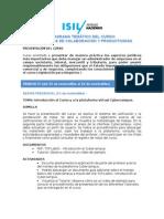 LEGNEGII 2012-1 MODELO DE PROGRAMA TEMÁTICO