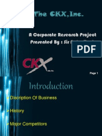 Corporate Research Project Presentation [CKX Inc.]