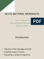 Acute Bacterial Meninigitis