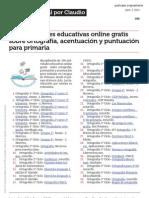 100 Actividades Educativas Online Gratis Sobre Ortografia Acentuacion y Puntuacion Para Primaria